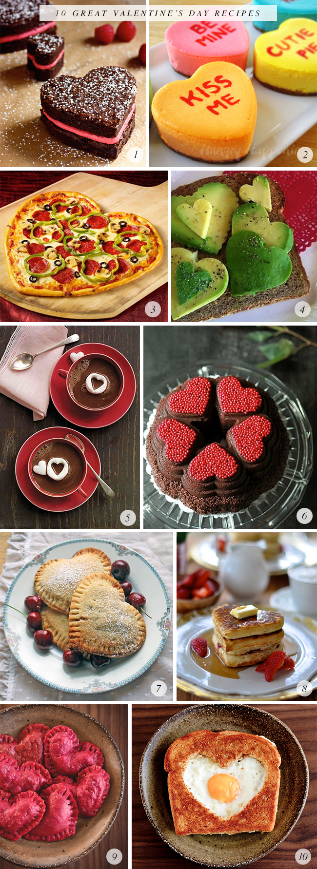 10 Great Valentine's Day Recipes // Bubby and Bean