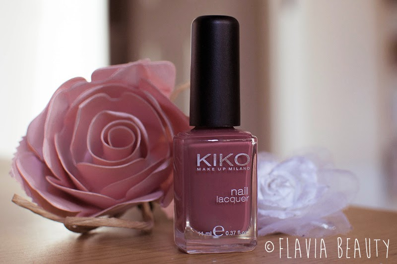 KIKO Nail Lacquer Polish #365 Tattoo Rose Review Swatches Pictures