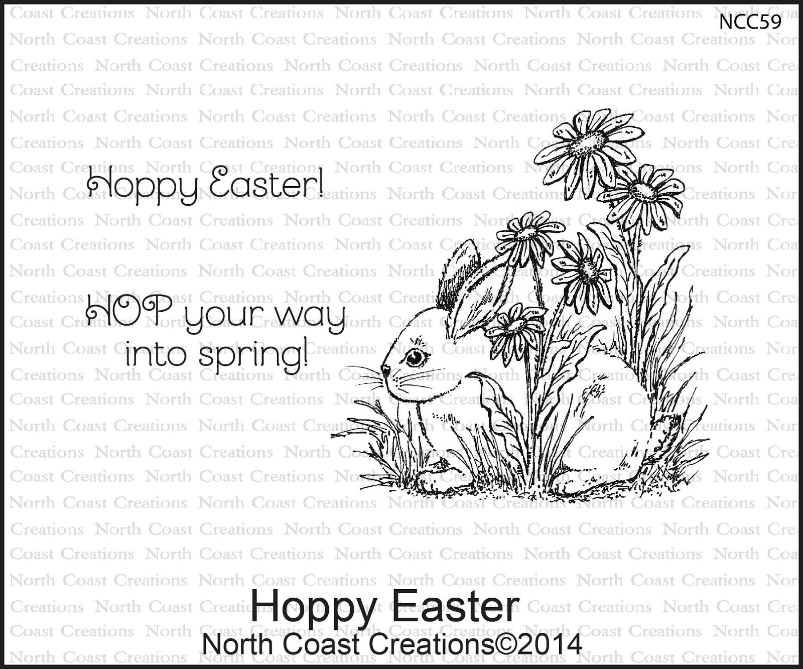 Stamps - North Coast Creations Hoppy Easter
