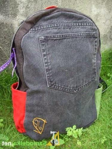 Как сшить рюкзак из джинс. backpack of jeans