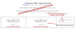 Transfer fund from JSS account to JSS Tripler