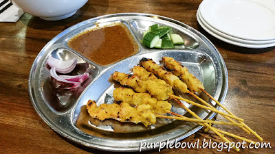 Chicken satay at Roti Road