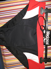 BLACK WHITE RED INSERT-SPANDEX