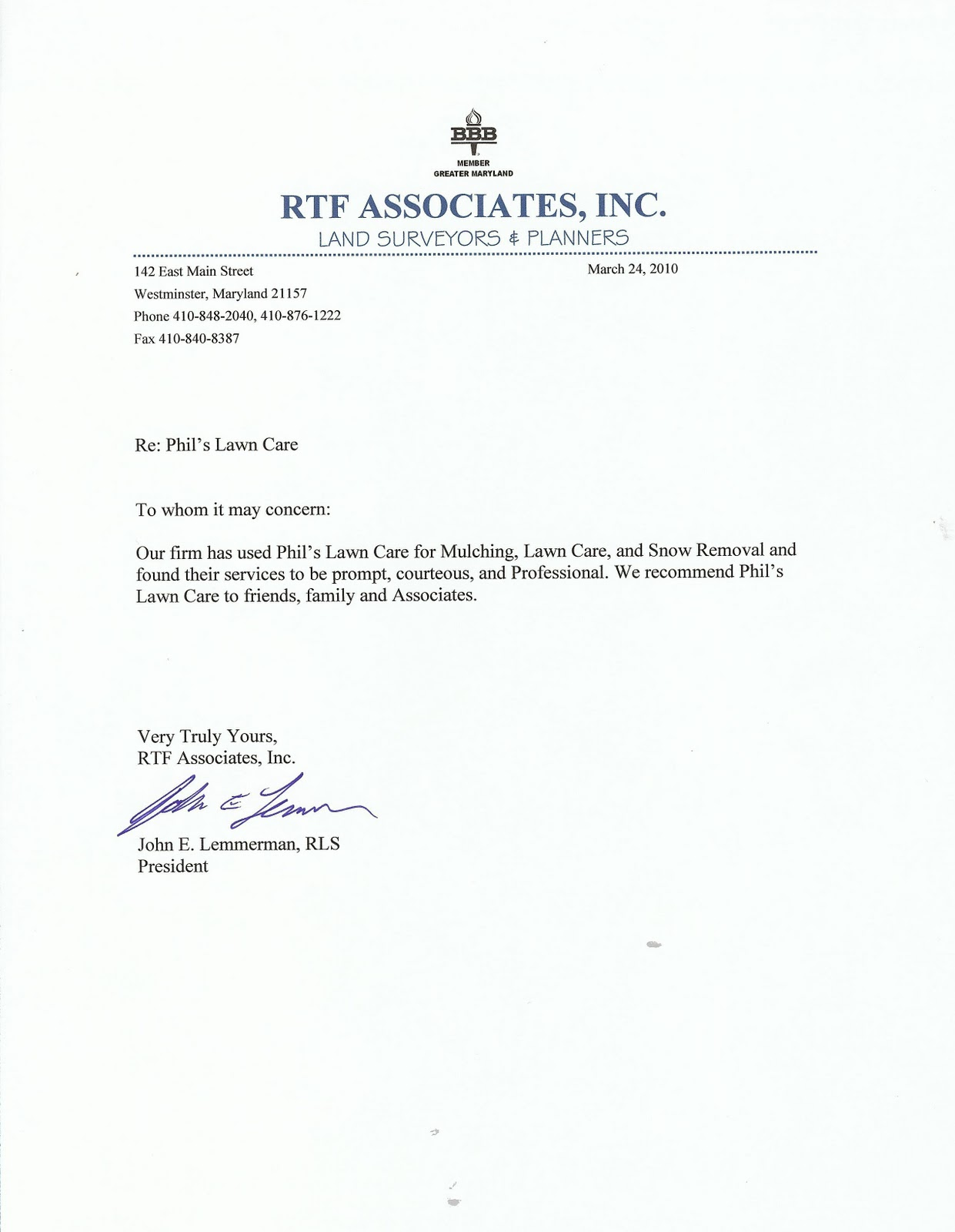 letter of recommendation for business services recommendation business