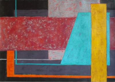 Pintura abstracta por Ima Pérez-Albert. Técnica acrílica sobre cartulina.