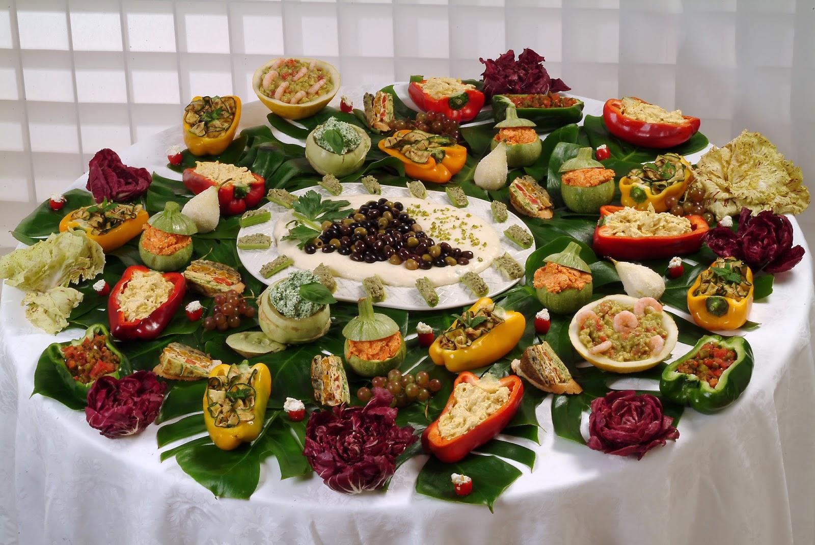 E orchestra di cucina: buffet per una serata estiva