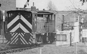 Last train entering Priddys Hard