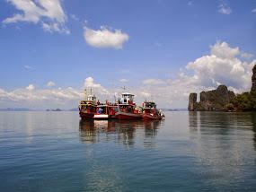 fishing boat in Phang-Nga Bay