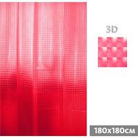 cortina baño roja