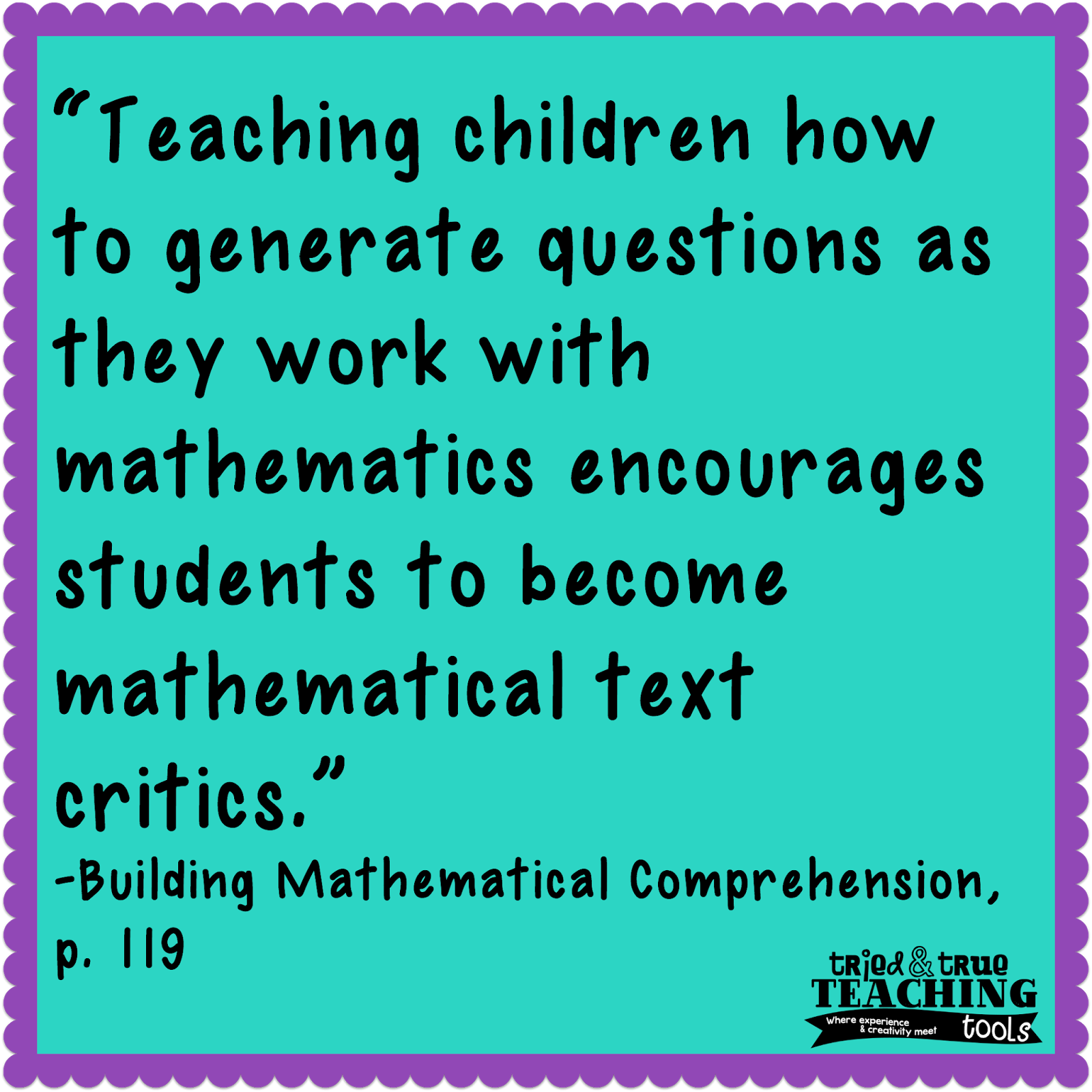 Building Mathematical Comprehension: Questioning & Visualizing Math ...