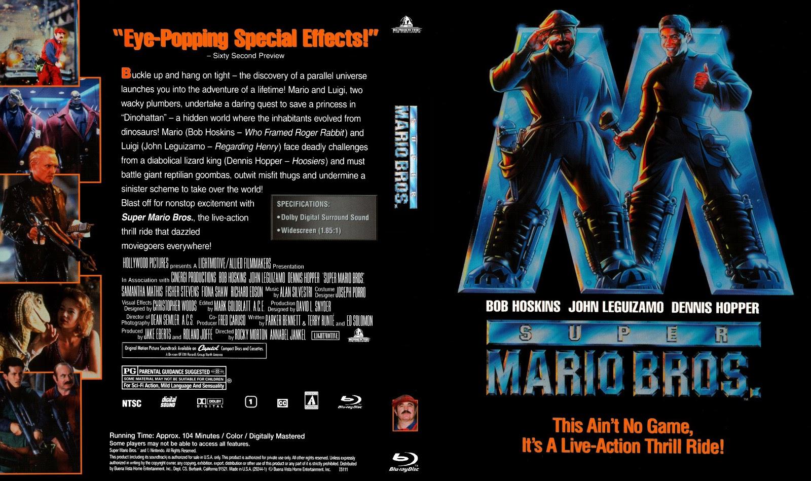 Capa Bluray Super Mario Bros.