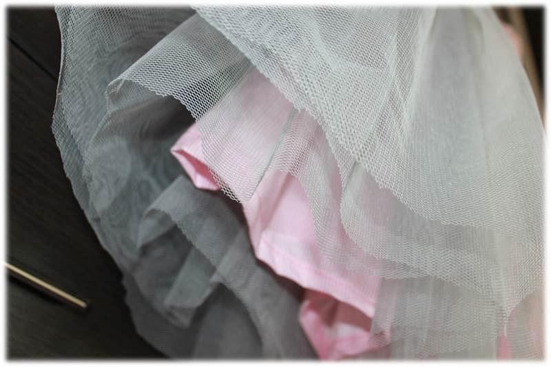 Sukienka na szydełku na roczek tiul