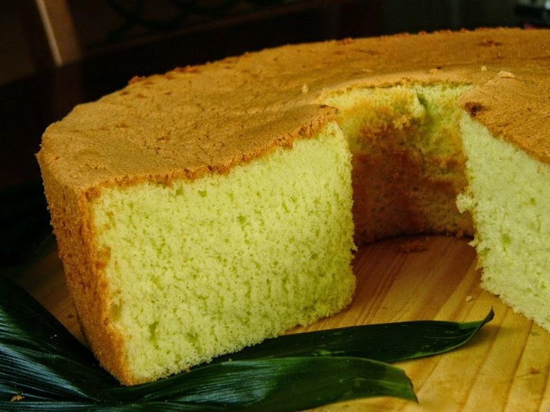 Resep chiffon cake pandan