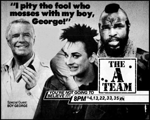 Video Bizarre Boy George On The A Team