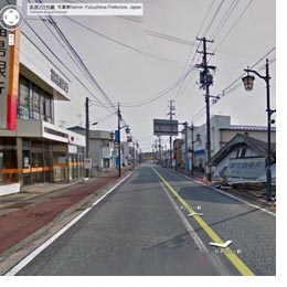 Googles Ghost-town Tours, Fukushima Nuclear Wastelands via Googlemaps/Streetview