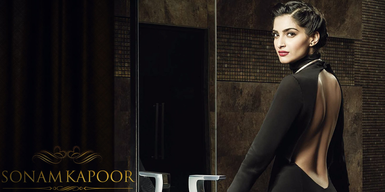 sonam kapoor blacksuit wallpaper hd