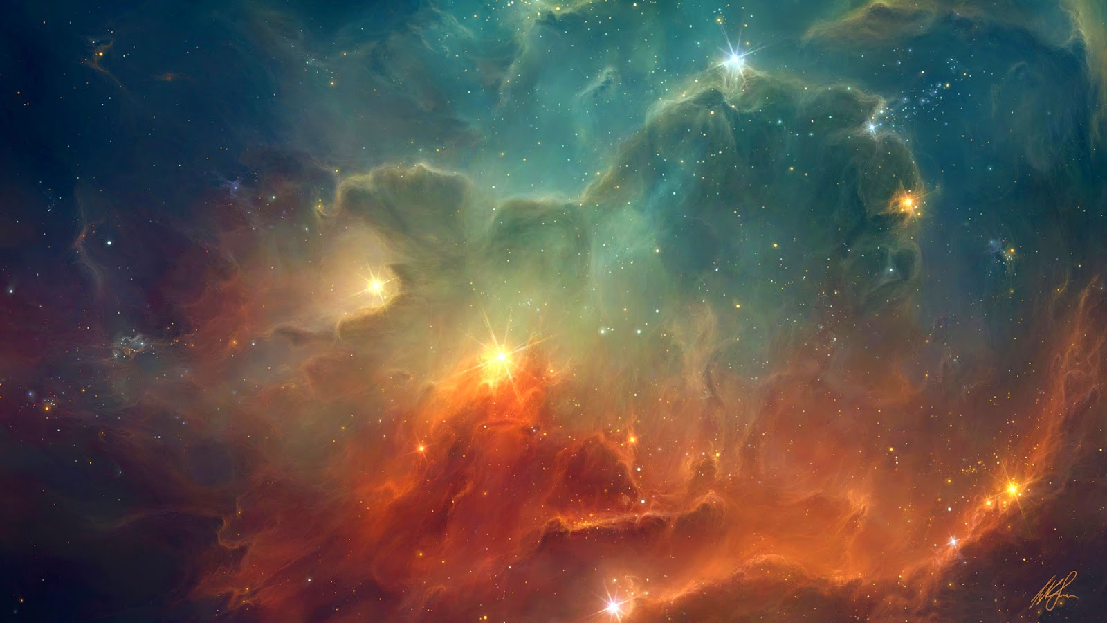 Papel de Parede Espaço Nebulosas Coloridas Space Wallpaper hd image