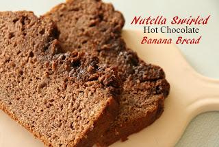 Nutella, banana, quick bread,