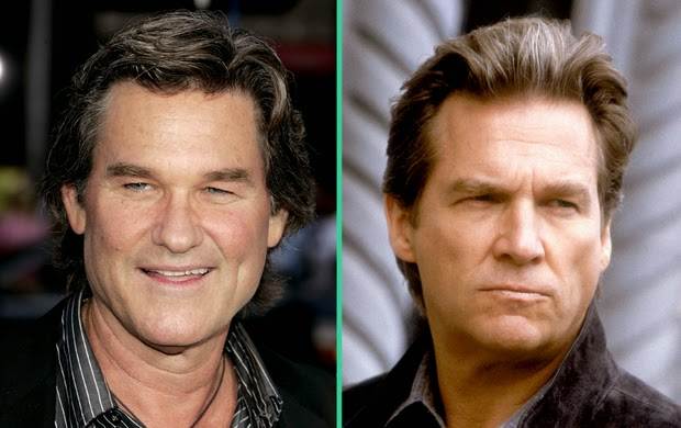 Famous doppelgangers- Jeff Bridges and Kurt Russell
