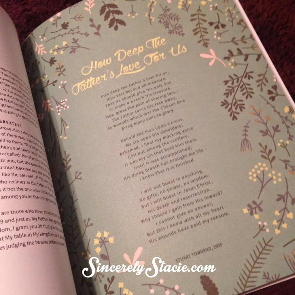 Sincerely stacie february 2015 the pages are beautiful and the words on the pages remind us of his great love for us fandeluxe Gallery