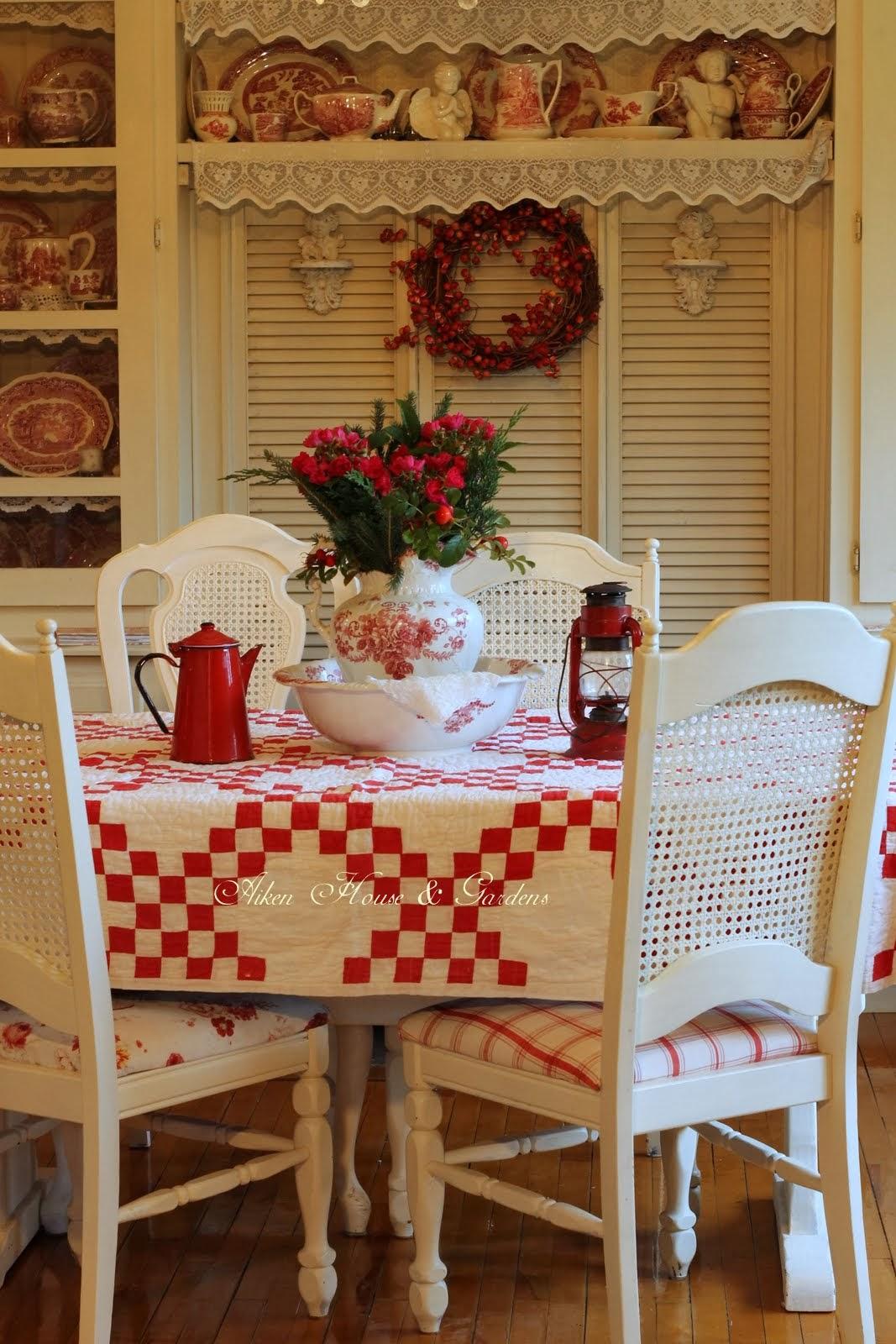 Aiken house gardens more red white kitchen touches for Aiken house