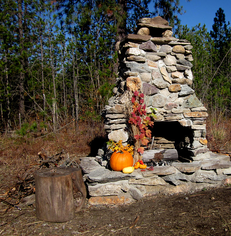 Messages from the mothership outdoor fireplace reveal for Rustic outdoor fireplace ideas
