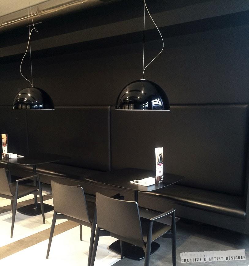 Proyecto de Interiosrismo Cafetería Gran Vía.(Bancada y Mobiliario)