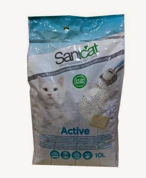 sanicat oxygen power -sanicat active onun yerine tercih edebilirsiniz -tozsuz kedi kumu
