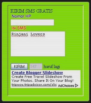 tutorial blog, blogger tutoral, blogspot, blog, SMS Gratis, Pasang Widget SMS Gratis di Blog, Widget sms, sms online widget,sms