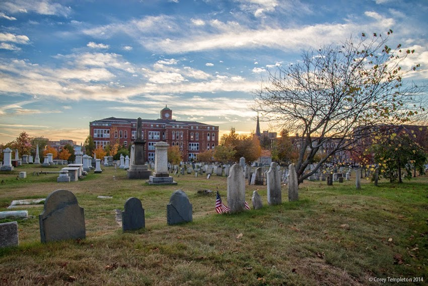 Eastern Cemetery in Portland, Maine October 2014 photo by Corey Templeton