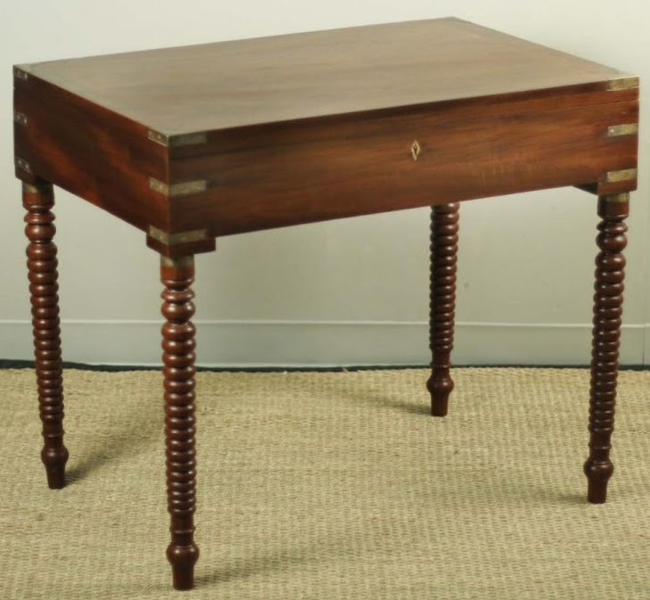 Teak Writing Desk From India With Removable Legs (source: Manner Of Style)