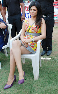 Shraddha Das Spotted Sittign on chair in mini skirt at a private function must see HQ Pics