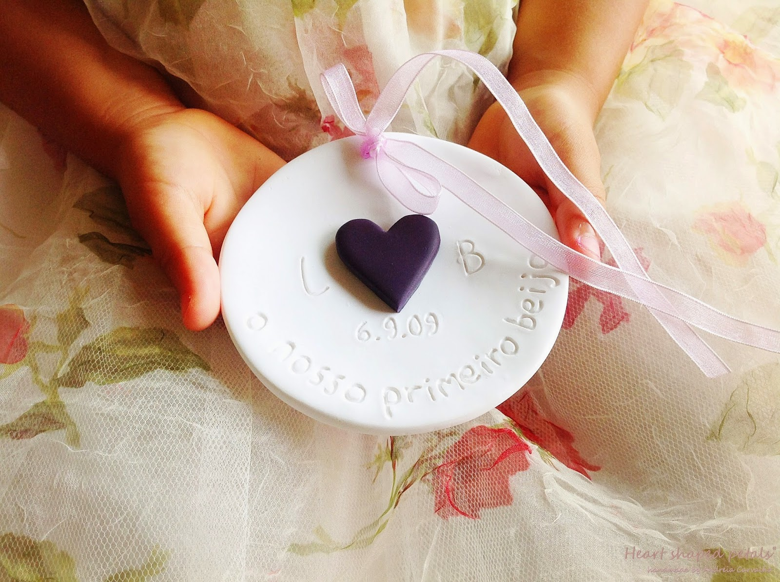 Ring bearer dish with initials