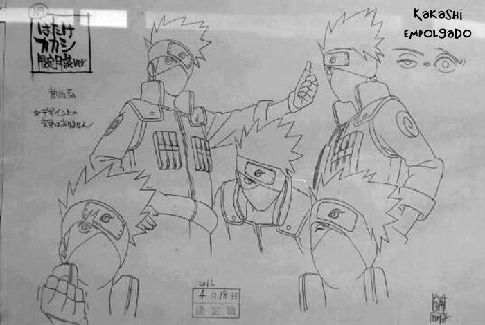 """Novidades """"Road To Ninja""""   (Scans) Kakashi-Drawing"""