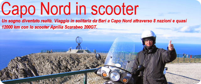 Capo Nord in scooter