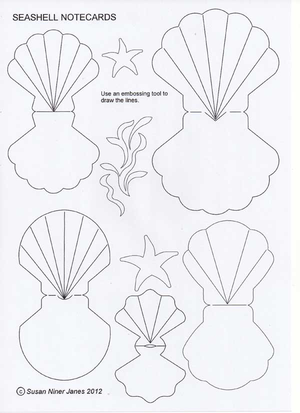the papercraft post  seashell notecards