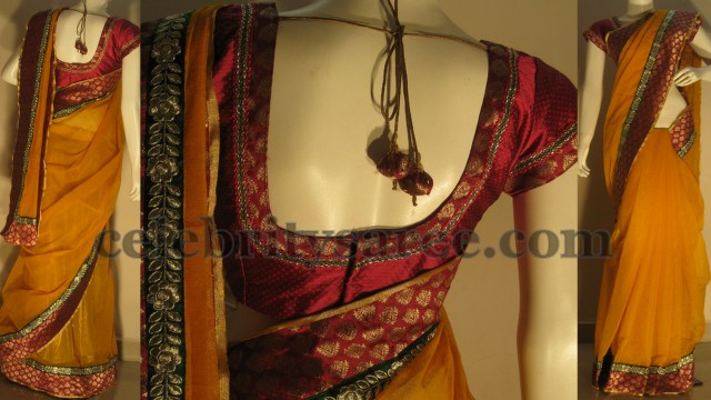 Fancy Jute Net Saris