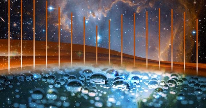 Caltech chemists have developed a precise ruler of terahertz light that will aid in the study of organic molecules in space, and the soft interactions between molecules in water. Due to its resemblance to a hair comb, the ruler is called a terahertz frequency comb, Credit: Lance Hayashida/Caltech and NASA/ESA/ and the Hubble Heritage Team (STScI/AURA) - ESA/Hubble Collaboration