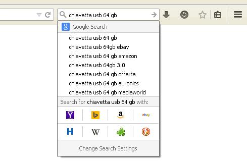 Nuova barra di ricerca One-click di Fireofx
