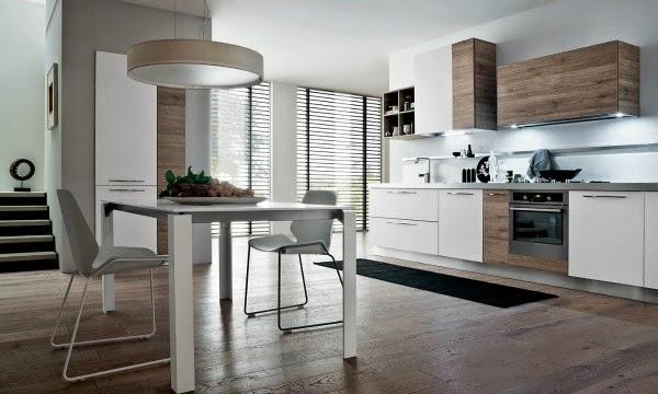 Consigli per la casa e l 39 arredamento arredare la cucina - Cucina laminato effetto legno ...