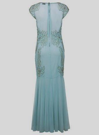 Embellished Monsoon Maxi Dress - Affordable Blue Wedding Dresses