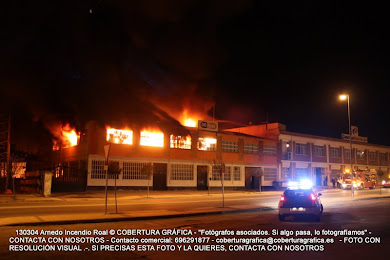 VIDEO en exclusiva incendio en fábrica de calzado de Arnedo ROAL (04/03/2013)