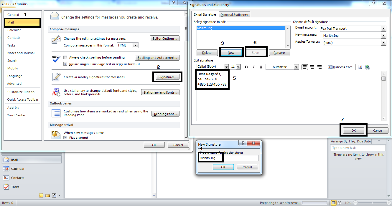 outlook how to create signature