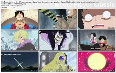 Download Film One Piece Episode 601 (Mengguncangkan Dunia Baru! Eksperimen Mengejutkan Caesar!) Bahasa Indonesia