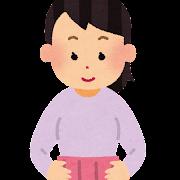腹巻きを巻いた人のイラスト(女性)