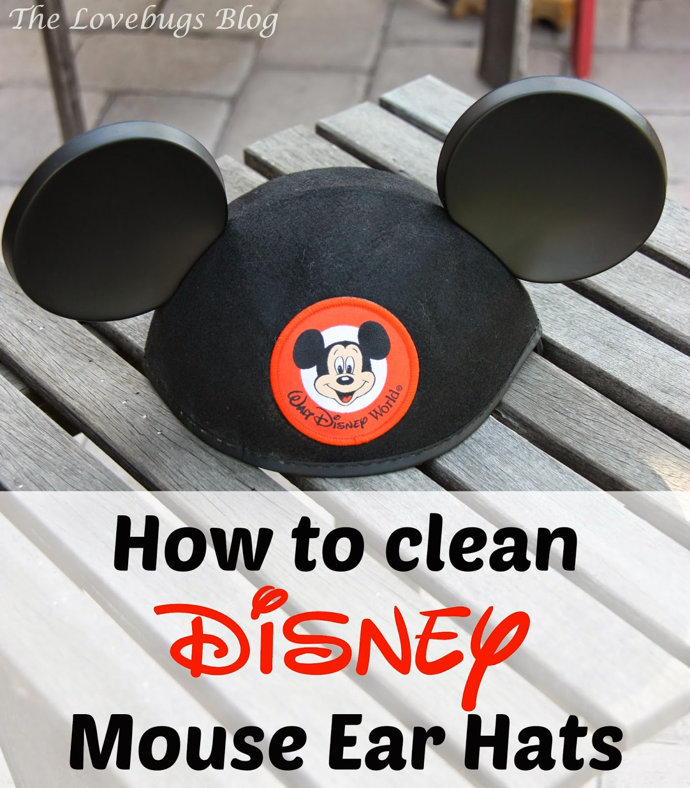 How to clean Disney Mouse Ears