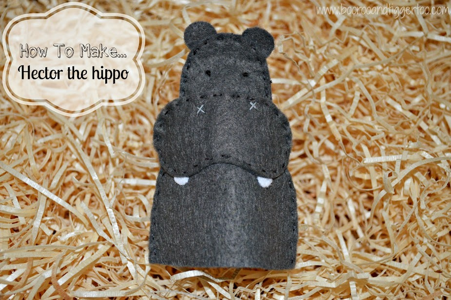 How To Make... Hector the hippo finger puppet