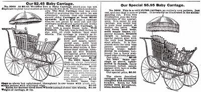 Детские коляски из Sears Roebuck & Co. Catalogue 1897 года