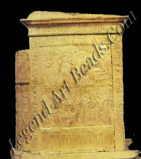 Gold-pleated wooden chest tomb of Tutankhamen treasure chamber