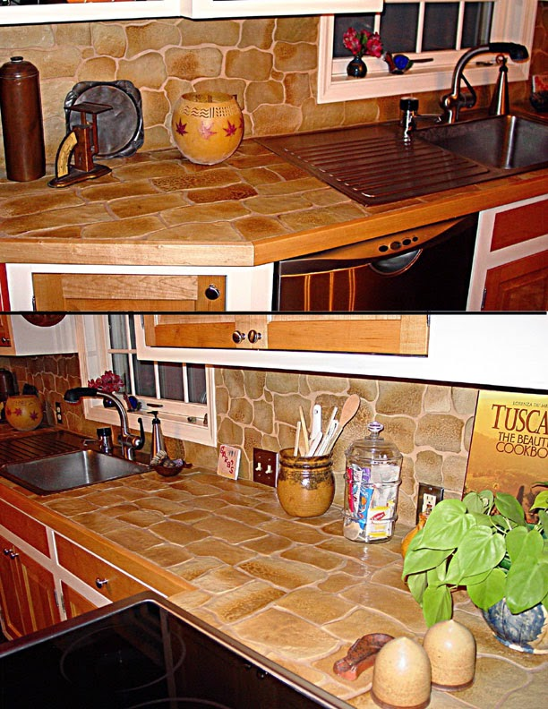 natural stone kitchen counter top